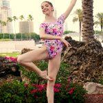 Alena | Cheerful Floral Leotard | Lilac Leotard