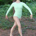 Chaveli Beautiful Green Long Sleeve Leotard