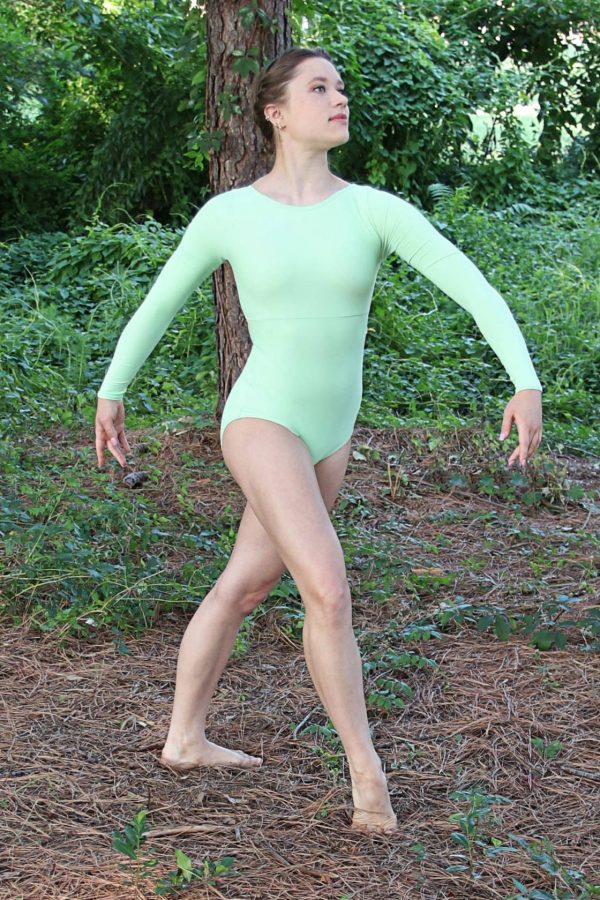 Chavelli Green Leotard Front
