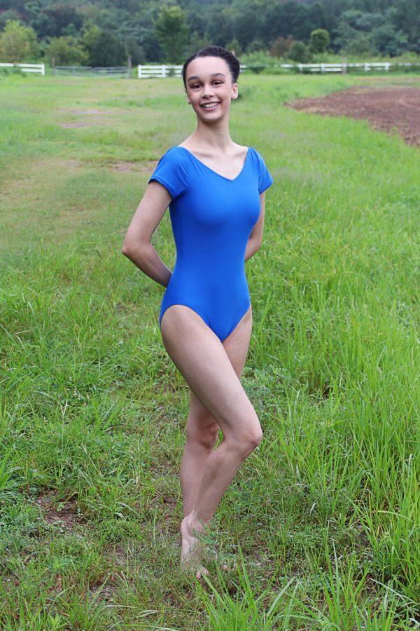 Diamond bodysuit royal blue