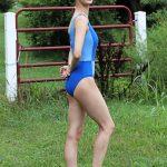 Elise Tank Leotard Blue