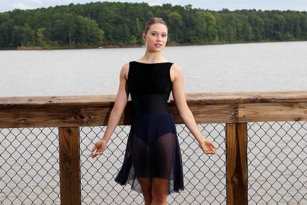 Nicole navy skirt long | Ballet Skirt