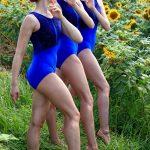 Kat Exquisite Royal Blue Velvet Leotard