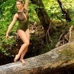 Kat Leotard Green