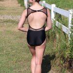 Kristen Leotard in Black