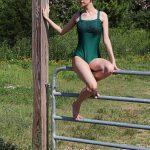 Lillian Deep Forest Green Leotard