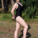 Mandy Black Halter Leotard