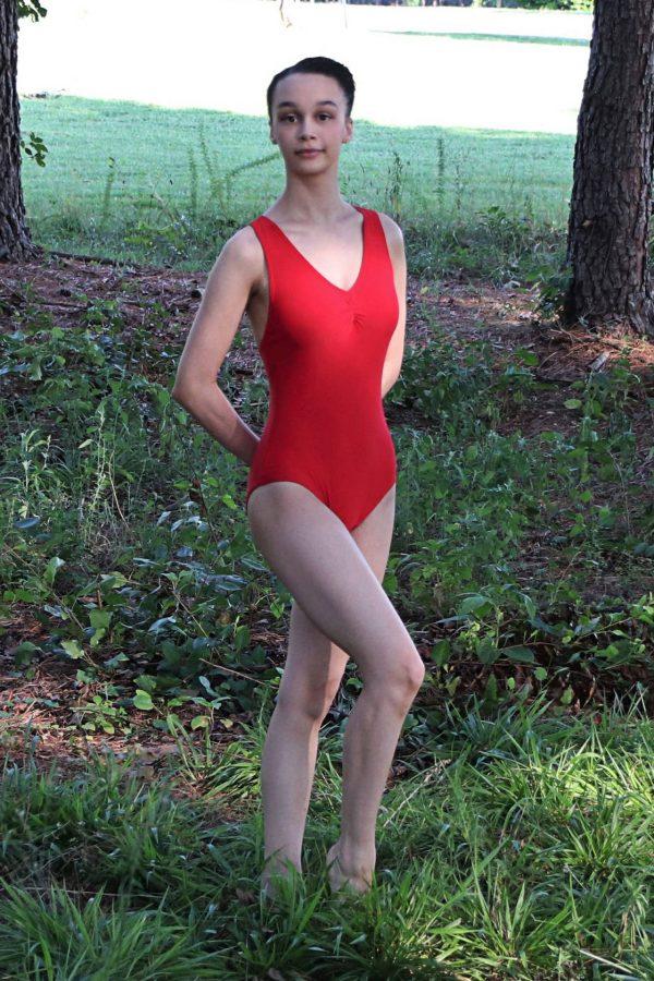 Mandy Red Halter Leotard