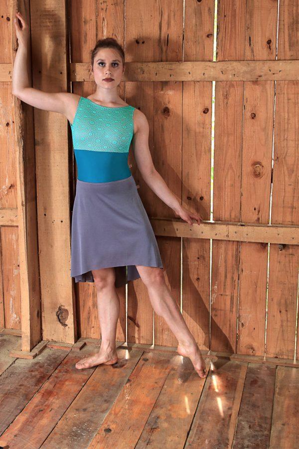 Nicole Grey Dance Skirt Long