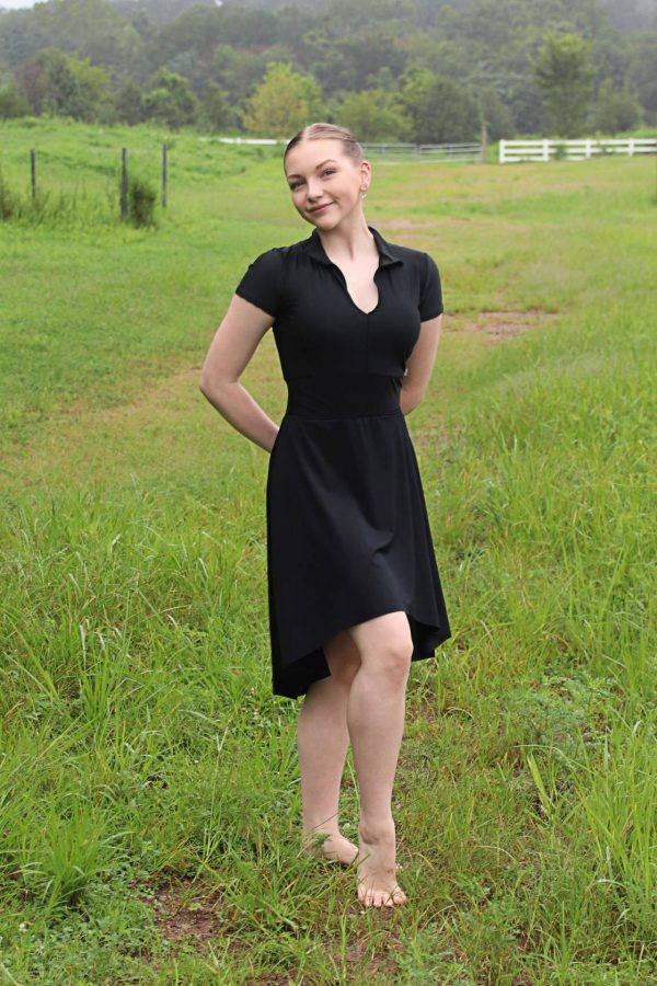 Nicole Dance Skirt Long   Black Athletic Mesh