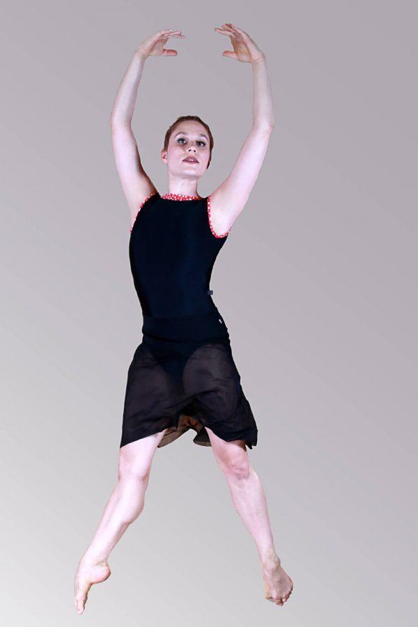 Nicole Long Black Mesh Dance Skirt