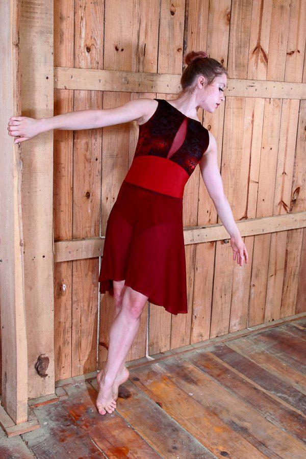 Nicole Burgundy Skirt Long