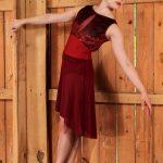 Nicole Bold Burgundy Skirt Long