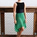 Nicole Long | Green Mesh Skirt