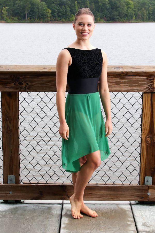 Nicole Long Skirt | Green Mesh Skirt