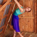 Nicole Purple Skirt Long | High Low Mesh Skirt