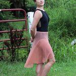 Nicole Long Dance Skirt in an Elegant Antique Rose
