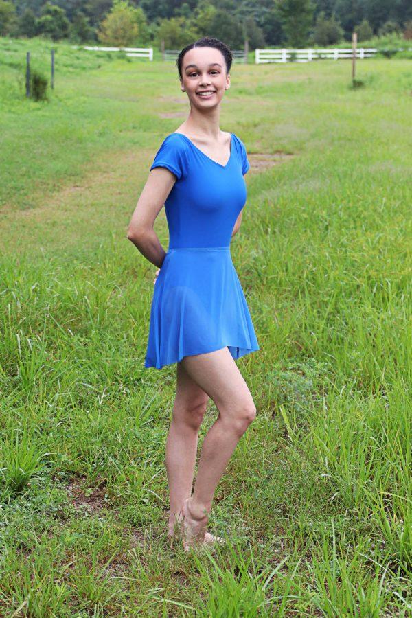 Royal blue ballet skirt