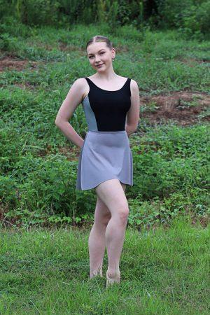 Nicole Dance Skirt Grey Athletic Mesh