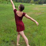 Nicole Dance Skirt Burgundy