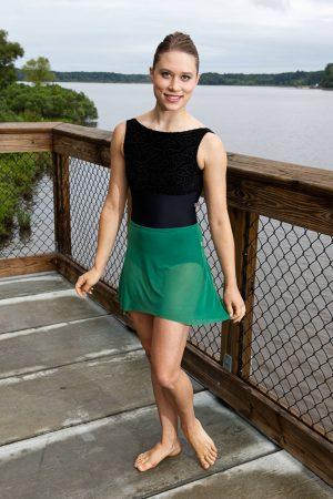 Nicole Green Skirt | Lovely Dance Skirt