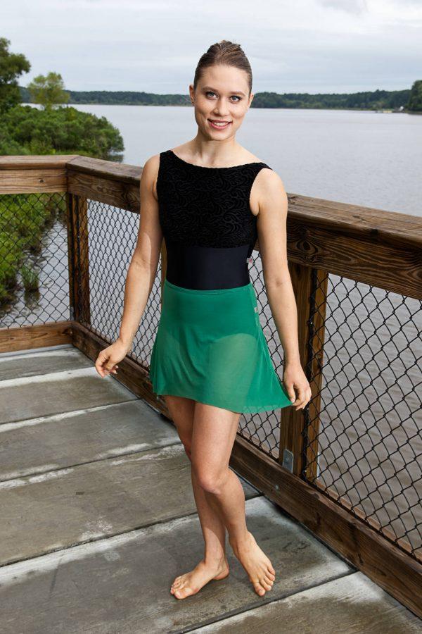 Nicole Green Skirt   Dance Skirt