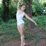 Riley Beautiful White Velvet Leotard