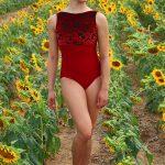 Sophia Leotard Red Velvet