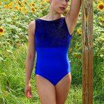 Sophia Velvet Leotard Royal Blue
