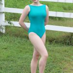 Stephanie Simply Classic Boatneck Leotard in Jade