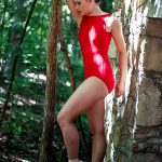 Stephanie Boatneck Leotard Red