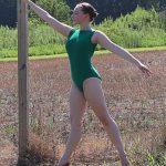 Stephanie Kelly Green Boatneck Leotard