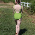 Moss Green Leotard   Theresa