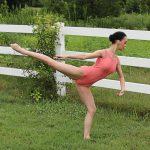 Tianna Light Bold Coral Leotard | Dance Wear
