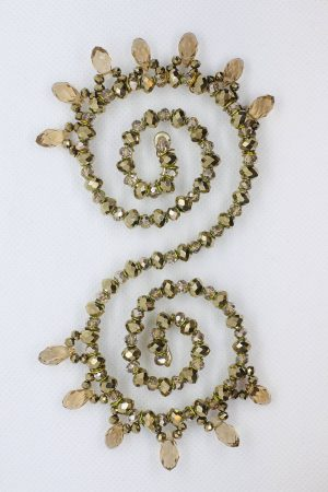 Beaded Hairpiece | Shiny Gold Hairpiece