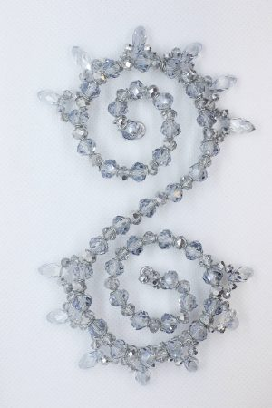 Beaded Hairpiece | Silver Hairpiece