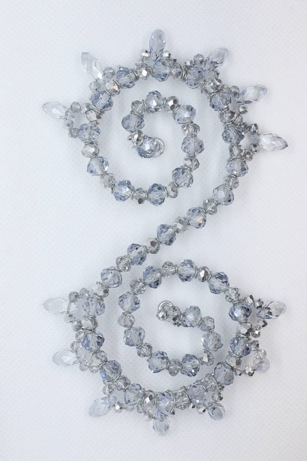 Beaded Silver Hairpiece