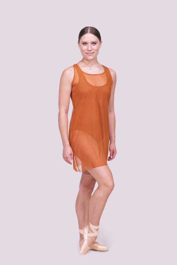 Tonya Copper Mesh Dress