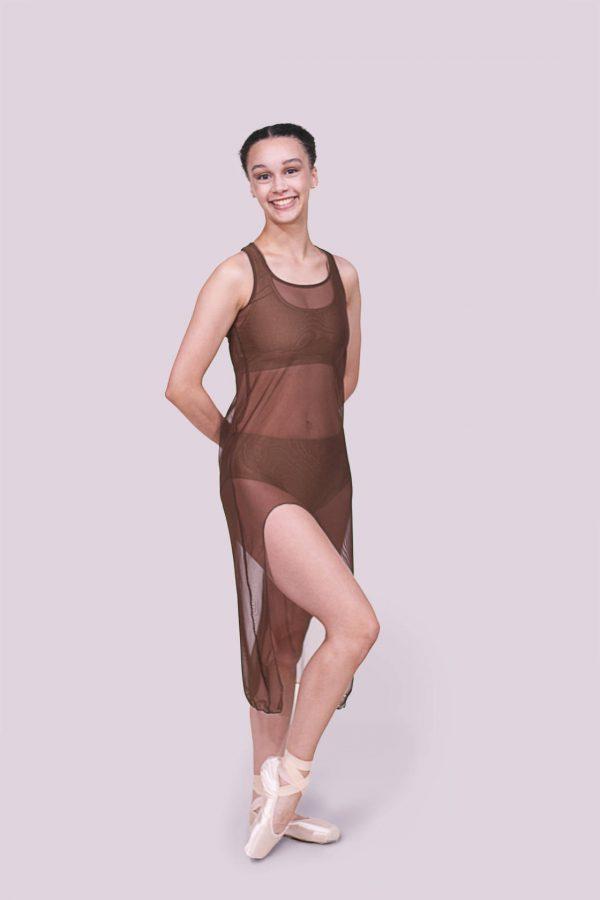 Tonya Brown Tank Mesh Dress