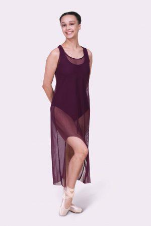 Tonya Mesh Dress – Merlot