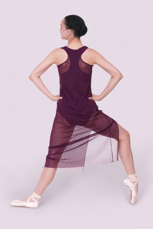 Tonya Dress Mesh Merlot